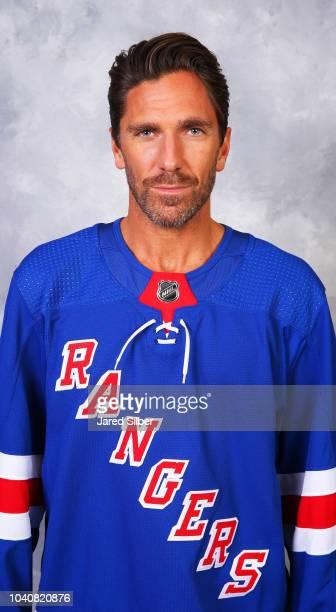Henrik Lundqvist of the New York Rangers poses for his official headshot for the 20182019 season on September 13 2018 in White Plains New York