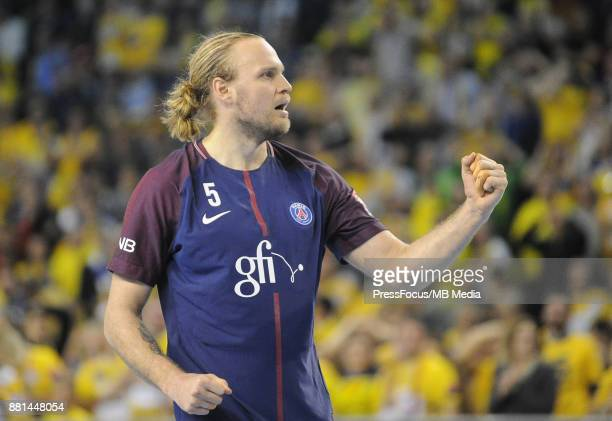Henrik Mollgaard during the EHF Men's Champions League Game between PGE Vive Kielce and PSG Handball on November 26 2017 in Kielce Poland