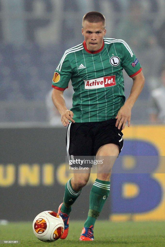 Henrik Ojamaa of Legia Warszawa in action during the Uefa Europa League Group J match between SS Lazio and Legia Warszawa at Stadio Olimpico on September 19, 2013 in Rome, Italy.