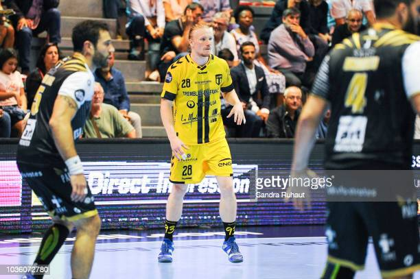 Luka Sebetic of Tremblay during the Lidl Starligue match between Tremblay and Pays d'Aix on September 19 2018 in TremblayenFrance France