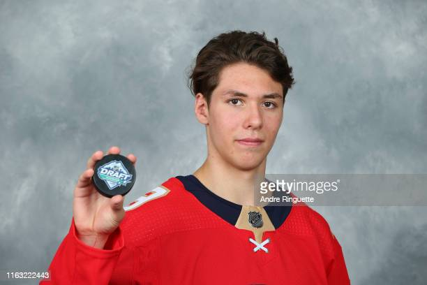 Henrik Rybinski 136th overall pick of the Florida Panthers poses for a portrait during Rounds 27 of the 2019 NHL Draft at Rogers Arena on June 22...