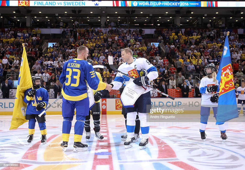 World Cup Of Hockey 2016 - Finland v Sweden : Photo d'actualité