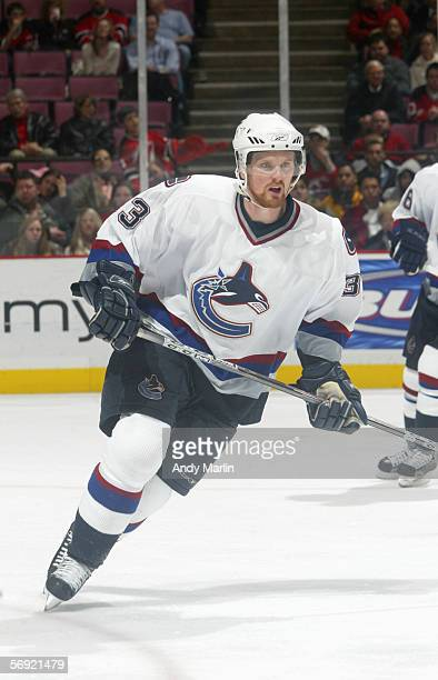 Henrik Sedin of the Vancouver Canucks skates during the game against the New Jersey Devils at the Continental Airlines Arena on January 13 2006 in...