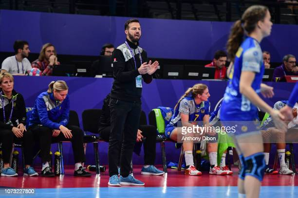 Henrik Signell coach of Sweden during the EHF Euro match between Sweden and Norway on December 14 2018 in Paris France