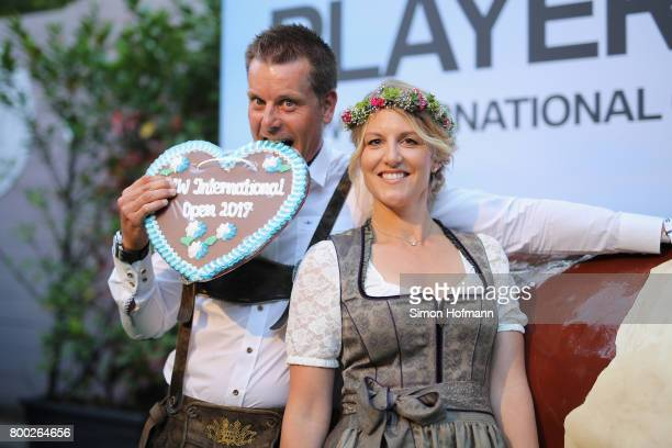Henrik Stenson of Sweden and his wife Emma Lofgren attend the BMW International Open Players Night at P1 Club on June 23 2017 in Munich Germany