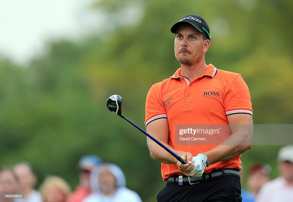Henrik Stenson of Sweden during the Challenge match at The Jebel Ali Hotel and Golf Resort as a preview for the 2013 Dubai Desert Classic on January 29, 2013 in Dubai, United Arab Emirates.