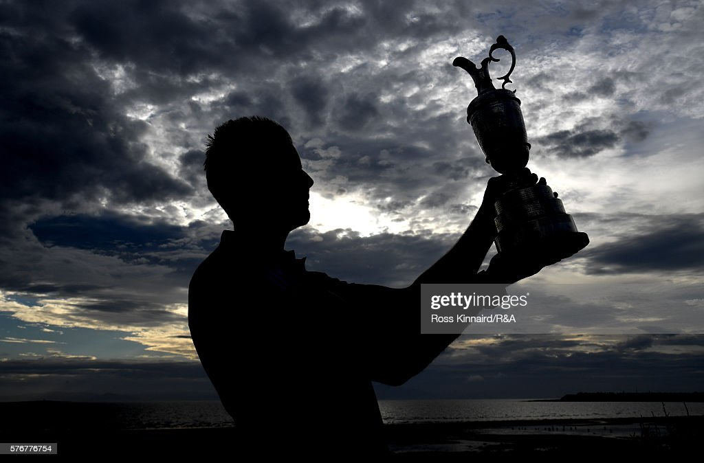 Henrik Stenson of Sweden lifts the Claret Jug following his victory during the final round on day four of the 145th Open Championship at Royal Troon on July 17, 2016 in Troon, Scotland.