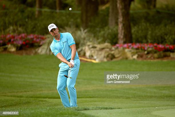 Henrik Stenson of Sweden plays a shot on the 17th hole during the first round of the Valspar Championship at Innisbrook Resort Copperhead Course on...