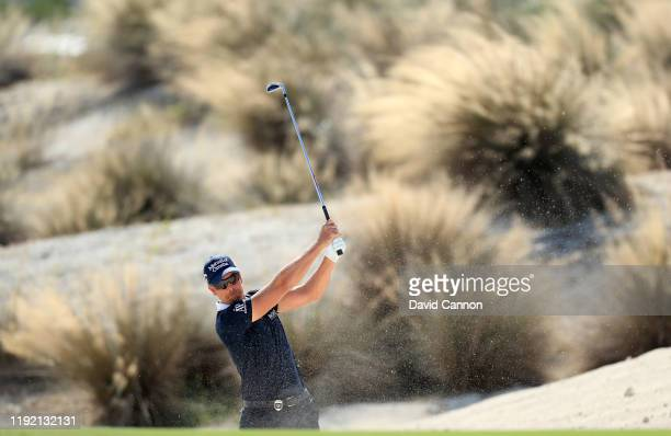 Henrik Stenson of Sweden plays his second shot on the third hole during the second round of the 2019 Hero World Challenge at Albany on December 05,...
