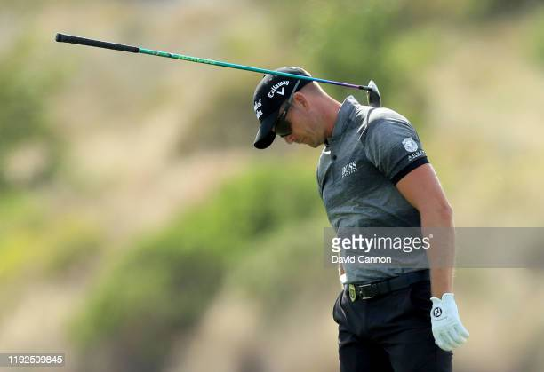 Henrik Stenson of Sweden plays his second shot on the third hole during the final round of the 2019 Hero World Challenge at Albany on December 07,...
