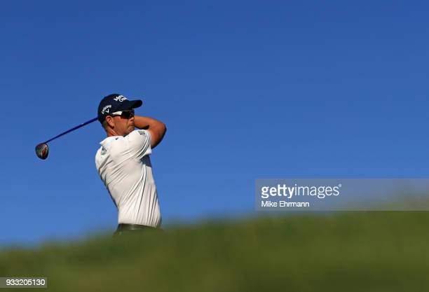 Henrik Stenson of Sweden plays his shot from the 16th tee during the third round at the Arnold Palmer Invitational Presented By MasterCard at Bay...