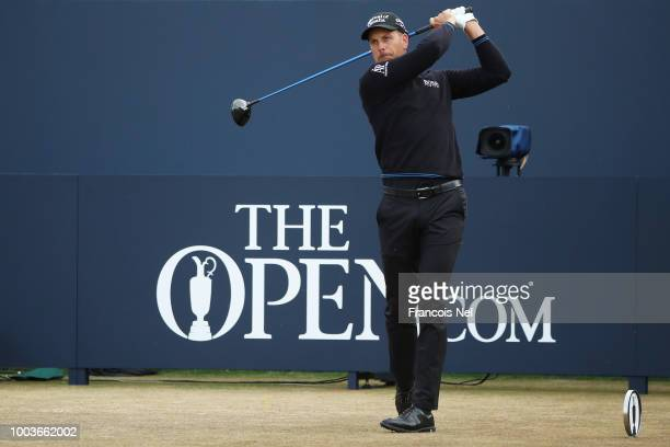 Paul Dunne of Ireland looks on from the fourth hole during the final round of the 147th Open Championship at Carnoustie Golf Club on July 22 2018 in...