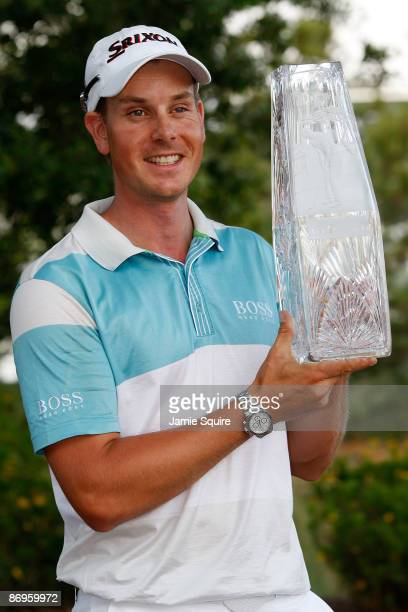 Henrik Stenson of Sweden poses with the trophy after his four stroke victory during the final round of THE PLAYERS Championship on THE PLAYERS...