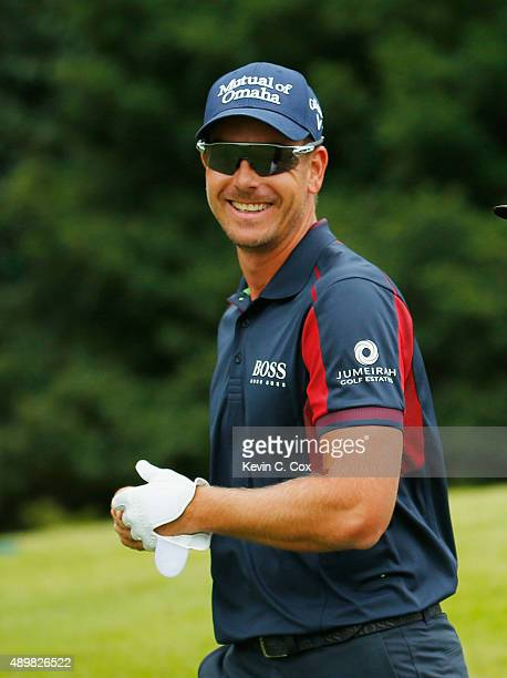 Henrik Stenson of Sweden walks on the fifth hole during the first round of the TOUR Championship By CocaCola at East Lake Golf Club on September 24...