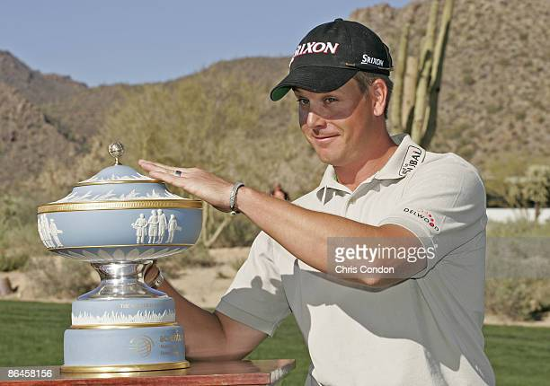 Henrik Stenson wins the Championship match of the WGCAccenture Match Play Championship held at The Gallery at Dove Mountain in Tucson Arizona on...