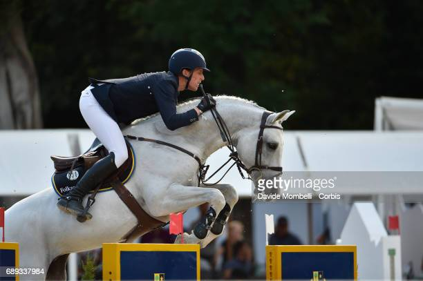 Henrik von Eckermann of Sweden riding Copperphlld during the FEI Nations Cup Piazza di Siena on May 26 2017 in Villa Borghese Rome Italy