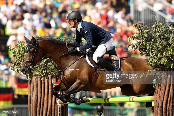 Henrik von Eckermann of Sweden riding Yajamila competes during the Equestrian Jumping Individual Final Round on Day 14 of the Rio 2016 Olympic Games...