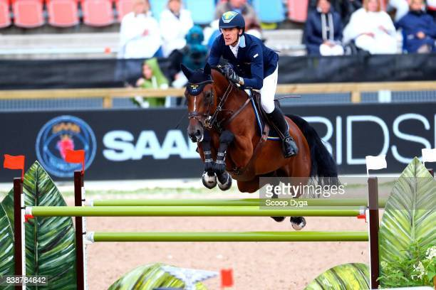 Henrik von Eckermann riding Mary Lou 194 during Nations Cup First Round of the Equestrian European Championships on August 24 2017 in Gothenburg...