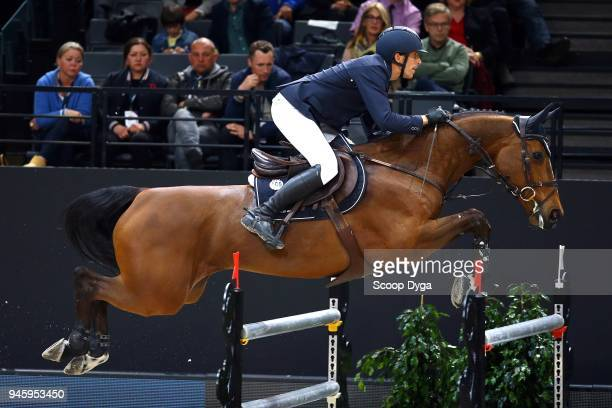 Henrik VON ECKERMANN riding MARY LOU 194 during the Longines FEI World Cup Jumping Final II on April 13 2018 in Paris France