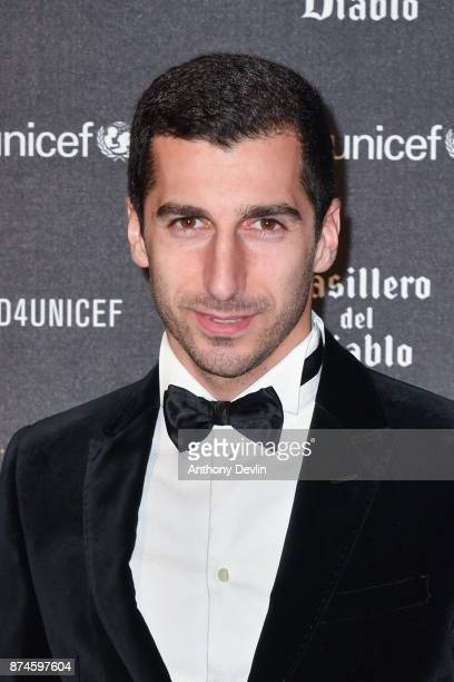 Henrikh Mkhitaryan attends the United for Unicef Gala Dinner at Old Trafford on November 15 2017 in Manchester England