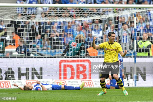 Henrikh Mkhitaryan celebrates his goal during the Bundesliga game between Hertha BSC and Borussia Dortmund on may 10, 2014 in Berlin, Germany.