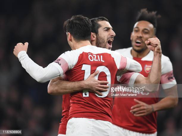 Image result for ozil and mkhitaryan getty