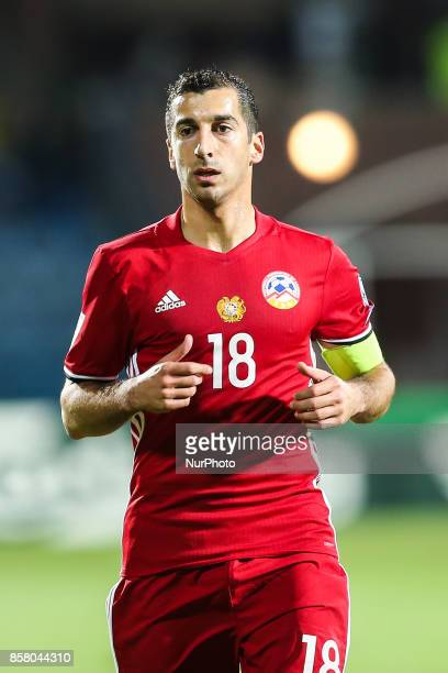 Henrikh Mkhitaryan during the FIFA World Cup 2018 qualification football match between Armenia and Poland in Yerevan on October 5 2017