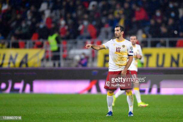 Henrikh Mkhitaryan during the FIFA World Cup Qatar 2022 qualification Group J football match between Romania and Armenia in Bucharest, Romania, on...