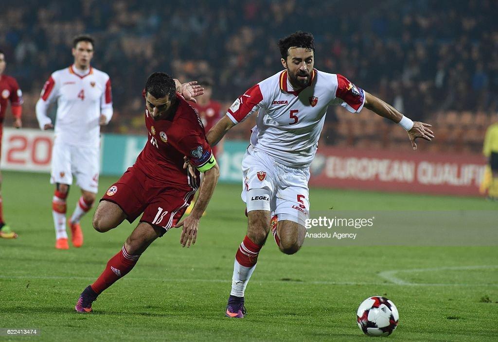Armenia vs Montenegro: FIFA 2018 World Cup Qualifier : News Photo