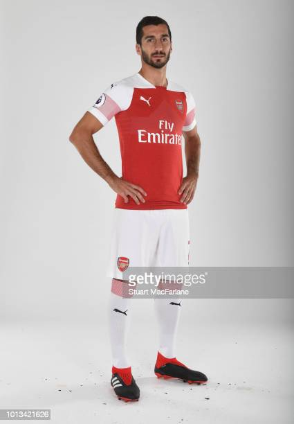 Henrikh Mkhitaryan of Arsenal at London Colney on August 8 2018 in St Albans England