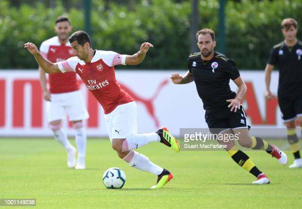 Henrikh Mkhitaryan of Arsenal during a pre season friendley between Arsenal and Crawley Town at London Colney on July 18 2018 in St Albans England