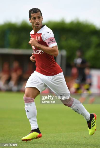 Henrikh Mkhitaryan of Arsenal during the match between Arsenal XI and Crawley Town XI at London Colney on July 18 2018 in St Albans England