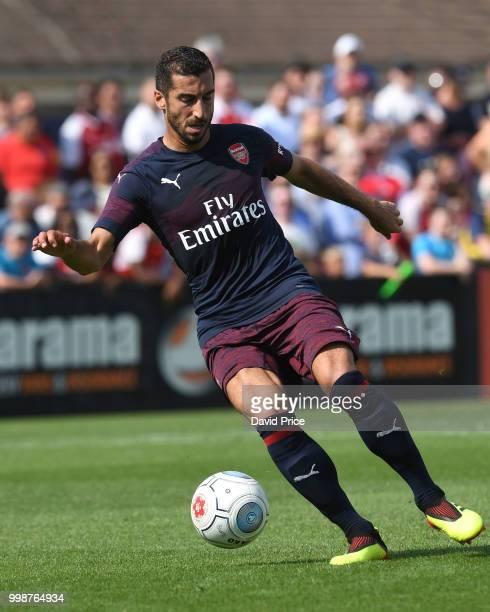 Henrikh Mkhitaryan of Arsenal during the match between Borehamwood and Arsenal at Meadow Park on July 14 2018 in Borehamwood England