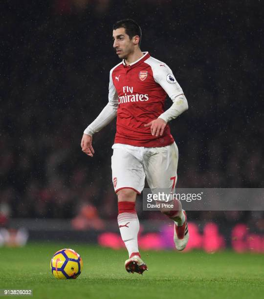Henrikh Mkhitaryan of Arsenal during the match the Premier League match between Arsenal and Everton at Emirates Stadium on February 3 2018 in London...