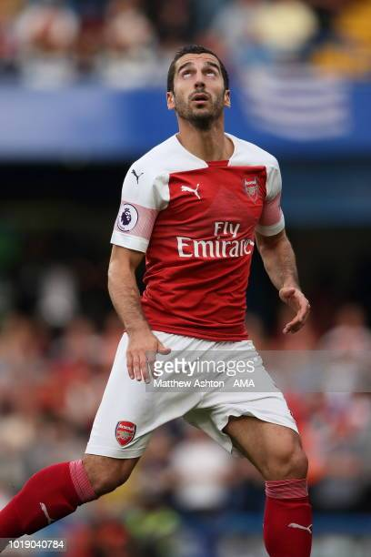 Henrikh Mkhitaryan of Arsenal during the Premier League match between Chelsea FC and Arsenal FC at Stamford Bridge on August 18 2018 in London United...