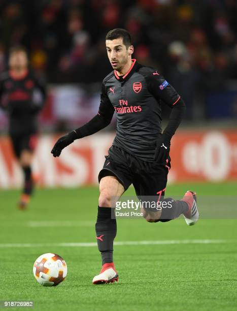 Henrikh Mkhitaryan of Arsenal during UEFA Europa League Round of 32 match between Ostersunds FK and Arsenal at the Jamtkraft Arena on February 15...