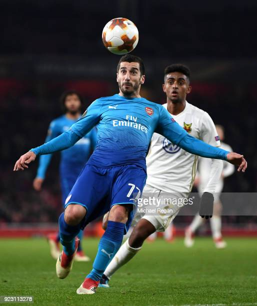 Henrikh Mkhitaryan of Arsenal during UEFA Europa League Round of 32 match between Arsenal and Ostersunds FK at the Emirates Stadium on February 22...