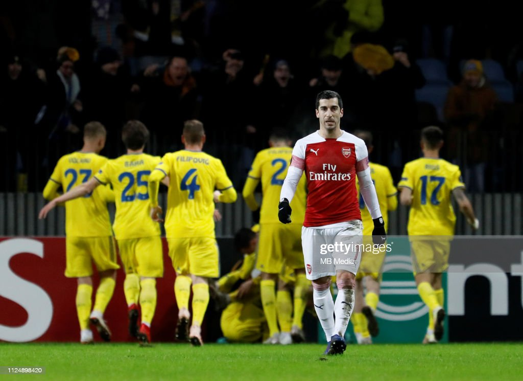 BATE Borisov v Arsenal - UEFA Europa League Round of 32: First Leg : Foto jornalística
