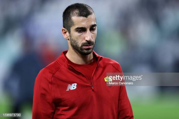 Henrikh Mkhitaryan of As Roma during warm up before the Serie A match between Juventus Fc and As Roma. Juventus Fc wins 1-0 over As Roma.