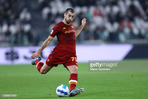 Henrikh Mkhitaryan of As Roma in action during the Serie A match between Juventus Fc and As Roma. Juventus Fc wins 1-0 over As Roma.