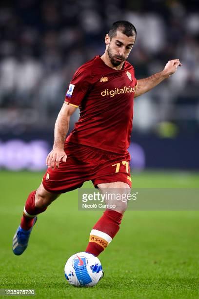 Henrikh Mkhitaryan of AS Roma kicks the ball during the Serie A football match between Juventus FC and AS Roma. Juventus FC won 1-0 over AS Roma.