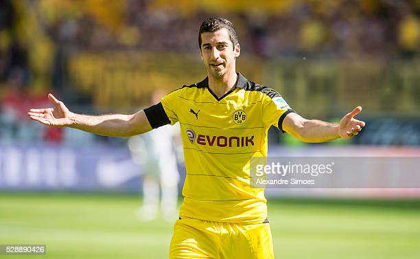Henrikh Mkhitaryan of Borussia Dortmund during the Bundesliga match between Eintracht Frankfurt v Borussia Dortmund at CommerzbankArena on May 7 2016...