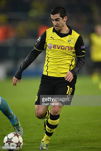 Henrikh Mkhitaryan of Dortmund in action during the UEFA Champions League group F match between Borussia Dortmund and SSC Napoli at Signal Iduna Park...
