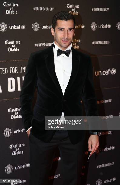 Henrikh Mkhitaryan of Manchester United attends the annual United for UNICEF gala dinner at Old Trafford on November 15 2017 in Manchester England