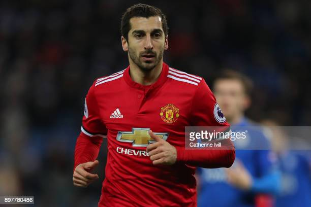 Henrikh Mkhitaryan of Manchester United during the Premier League match between Leicester City and Manchester United at The King Power Stadium on...
