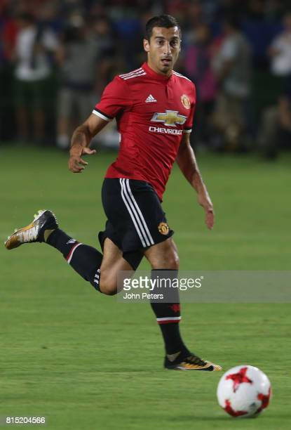 Henrikh Mkhitaryan of Manchester United in action during the preseason friendly match between LA Galaxy and Manchester United at StubHub Center on...