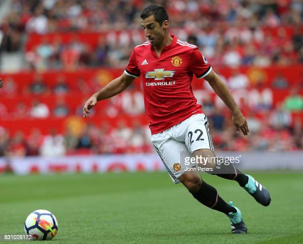 Henrikh Mkhitaryan of Manchester United in action during the Premier League match between Manchester United and West Ham United at Old Trafford on...