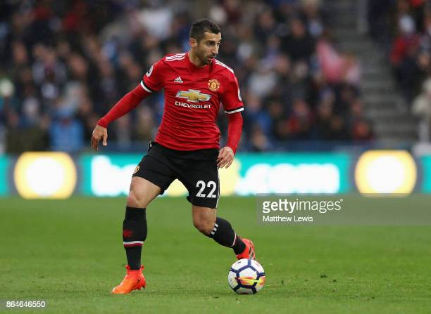 Henrikh Mkhitaryan of Manchester United in action during the Premier League match between Huddersfield Town and Manchester United at John Smith's...
