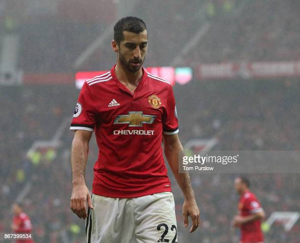 Henrikh Mkhitaryan of Manchester United in action during the Premier League match between Manchester United and Tottenham Hotspur at Old Trafford on...