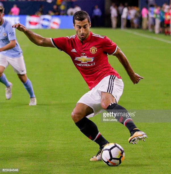 Henrikh Mkhitaryan of Manchester United in game action against Manchester City'n at NRG Stadium on July 20 2017 in Houston Texas